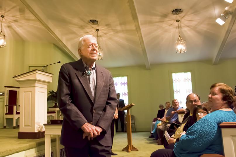 President Jimmy Carter teaching Sunday School at Maranatha Baptist Church in Plains, Ga. Photo courtesy of Frank Kavanaugh
