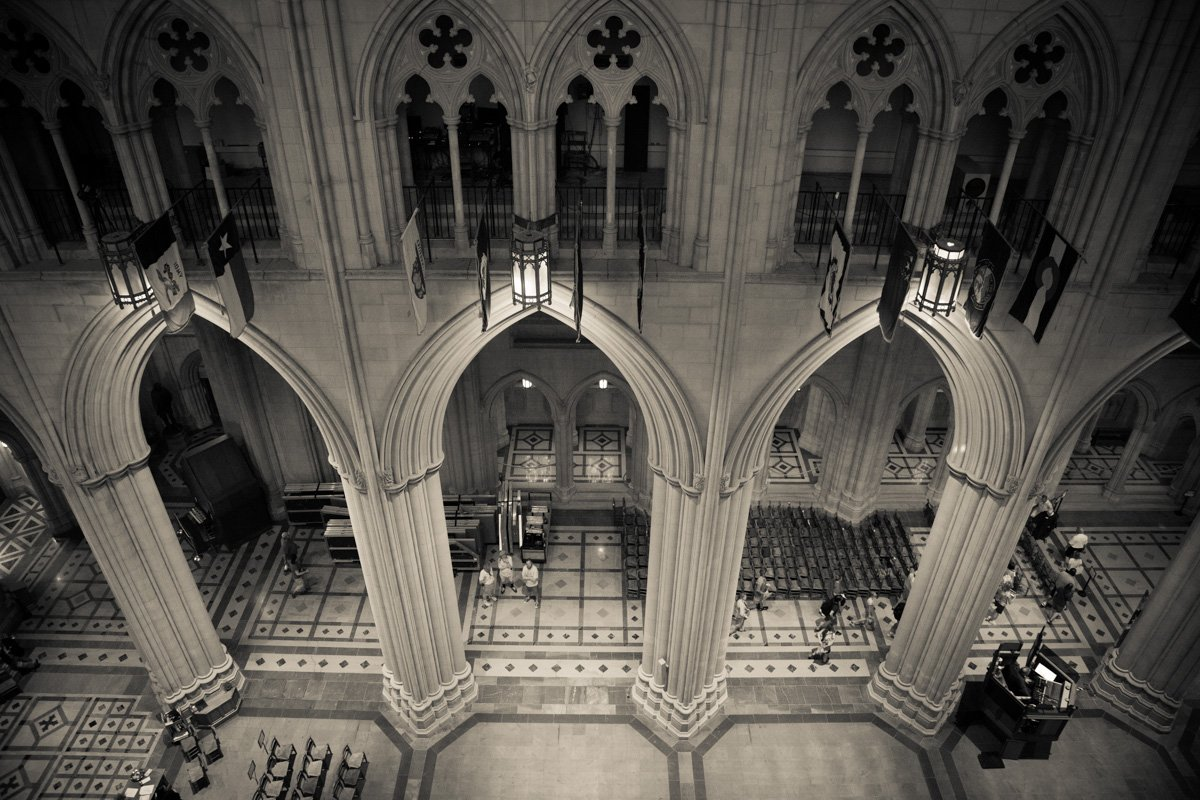 A view from the balcony inside the Washington National Cathedral on June 12, 2015. Religion News Service photo by Sally Morrow