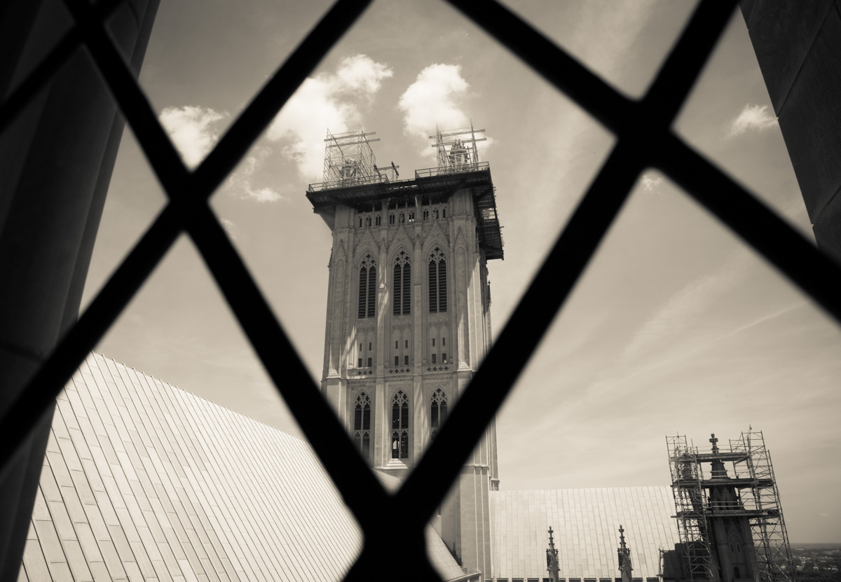 A view of the damage caused by the 2011 earthquake being repaired at the Washington National Cathedral on June 12, 2015. Religion News Service photo by Sally Morrow