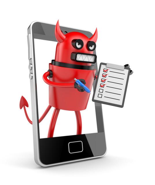 devil inside mobile phone
