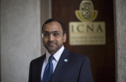 Waqas Syed, Deputy Secretary General- IT, Islamic Circle of North America, poses for a portrait at his office in Anaheim, Calif.