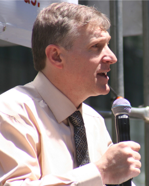 Eric Scheidler speaks at a Stand Up for Religious Freedom rally in March 2012 Photo courtesy of Matt Yonke
