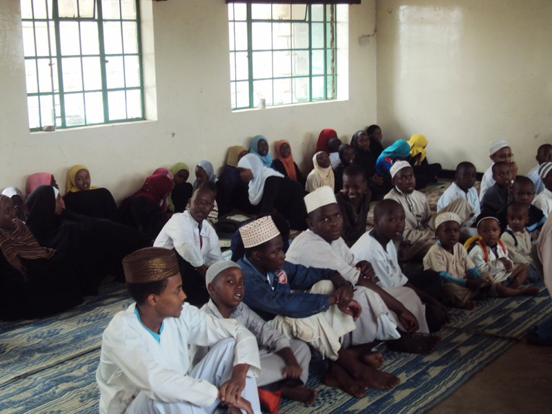 Muslim children in a Madrasa in Garissa in northern Kenya studying Sharia law. Islamic militants staged a deadly attack in the town in April. The Kenyan government is keeping a close eye on courses like these in a campaign against radicalization. Religion News Service photo by Tonny Onyulo