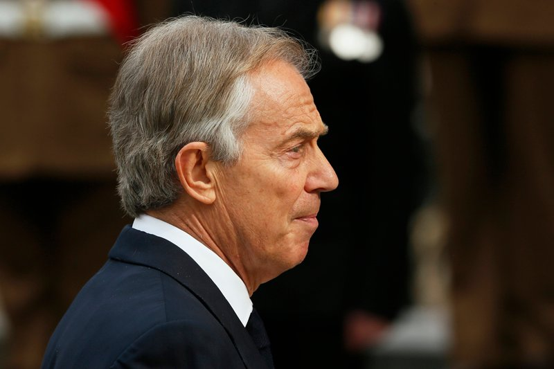 Former British Prime Minister Tony Blair arrives for the Afghanistan service of commemoration at St Paul's Cathedral in London March 13, 2015. Photo courtesy of REUTERS/Stefan Wermuth *Editors: This photo may only be republished with RNS-BLAIR-TOLERANCE, originally transmitted on June 4, 2015.