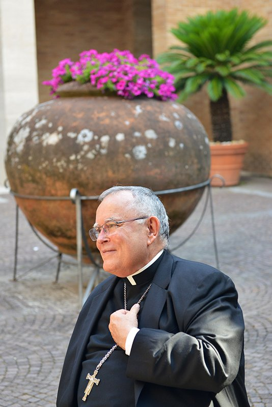 Archbishop Charles J. Chaput, O.F.M., Cap. during the Festival of Families announcement at the Pontifical North American College in Rome on June 23, 2015. Photo courtesy of Chris Warde-Jones, Archdiocese of Philadelphia