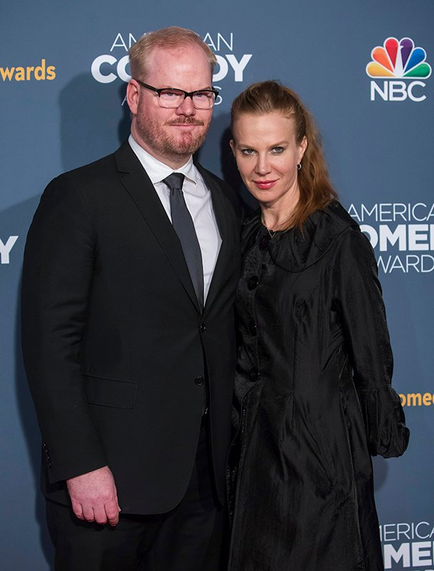 Actor Jim Gaffigan and his wife, actress Jeannie Noth attend the American Comedy Awards in New York on April 26, 2014. Photo courtesy of REUTERS/Eric Thayer *Editors: This photo may only be republished with RNS-GAFFIGAN-RELIGION, origianally transmitted on June 11, 2015.
