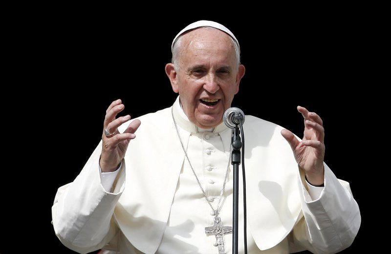 Pope Francis speaks in front the basilica of Saint Mary Ausiliatrice (Mary Help of Christians) during a two-day pastoral visit in Turin, Italy, on June 21, 2015. Photo courtesy of REUTERS/Alessandro Garofalo *Editors: This photo may only be republished with RNS-POPE-TURIN, originally transmitted on June 22, 2015.