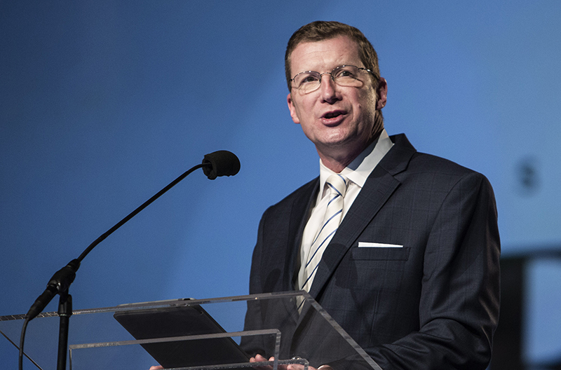 Bryan E. Smith, of First Baptist Church in Roanoke, Va., and chairman of the Committee on Committees, gives a report during the June 16, 2015, afternoon session of the Southern Baptist Convention annual meeting at the Greater Columbus Convention Center in Columbus, Ohio. Photo by Bill Bangham, courtesy of Baptist Press