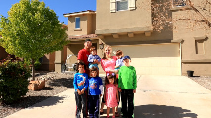 """The Moya Family from Albuquerque, N.M., are featured in CBS' new reality show """"The Briefcase,"""" featuring hard-working American families experiencing financial setbacks who are presented with a briefcase containing a large sum of money and a potentially life-altering decision: they can keep all of the money for themselves, or give all or part of it to another family in need. Photo courtesy of ©2015 CBS Broadcasting Inc."""