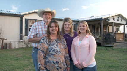 """The Wylie Family from Rio Vista, Texas, are featured in CBS' new reality show """"The Briefcase,"""" featuring hard-working American families experiencing financial setbacks who are presented with a briefcase containing a large sum of money and a potentially life-altering decision: they can keep all of the money for themselves, or give all or part of it to another family in need. Photo courtesy of ©2015 CBS Broadcasting Inc."""