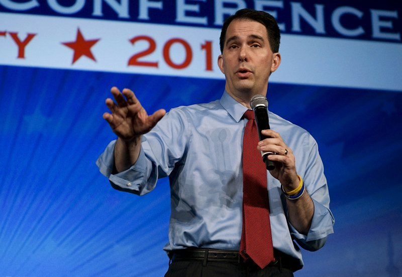 Wisconsin Governor Scott Walker, potential Republican presidential candidate, speaks at the Southern Republican Leadership Conference in Oklahoma City, Oklahoma on May 21, 2015. Photo courtesy of REUTERS/Rick Wilking *Editors: This photo may only be republished with RNS-WALKER-FAITH, originally transmitted on June 11, 2015.