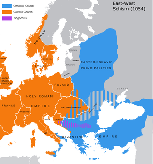 Great Schism between Eastern and Western Churches in 1084