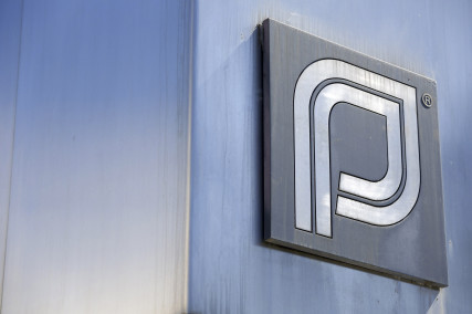 The Planned Parenthood logo is pictured outside a clinic in Boston, Massachusetts