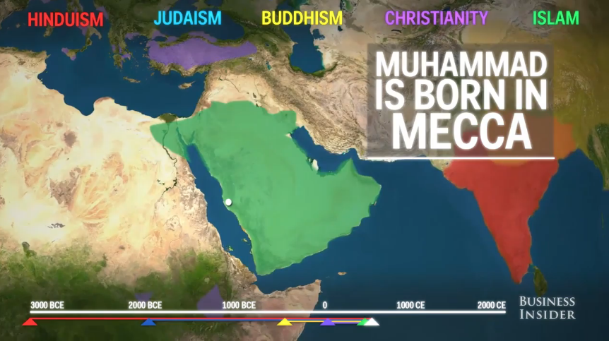 FEATURED VIDEO Animated Map Illustrates Spread Of Five Major - Five major religions