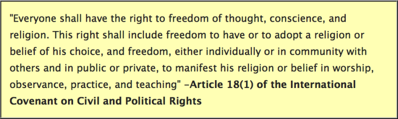 State department religious freedom definition