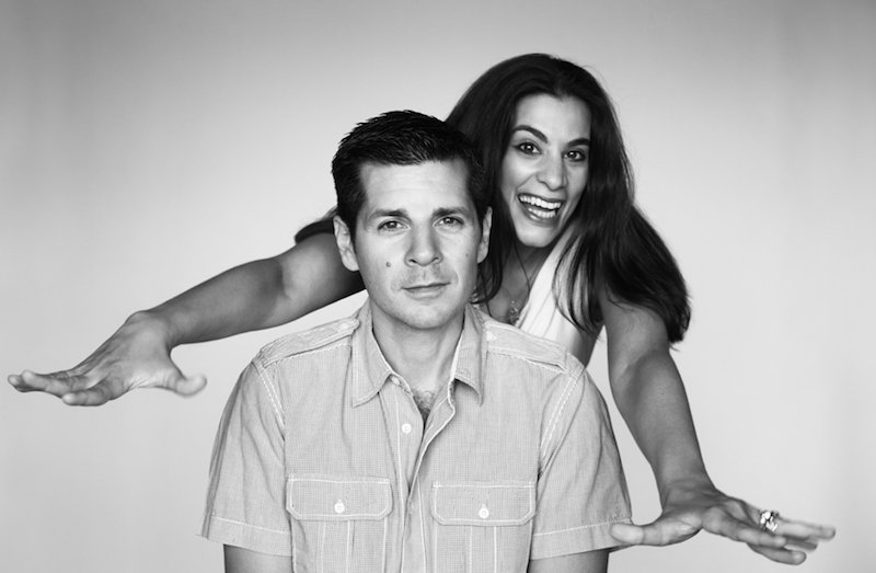 A photo of Dean Obeidallhah and Maysoon Zayid.