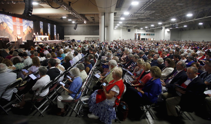 Thousands attend the General Convention of the Episcopal Church in Salt Lake City, Utah June 28, 2015. The General Convention of the Episcopal Church is held every three years in different cities around the country. REUTERS/Jim Urquhart
