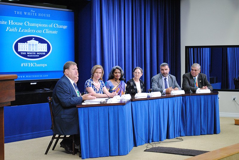 Faith leaders present on climate change on July 20, 2015. Photo courtesy of the White House
