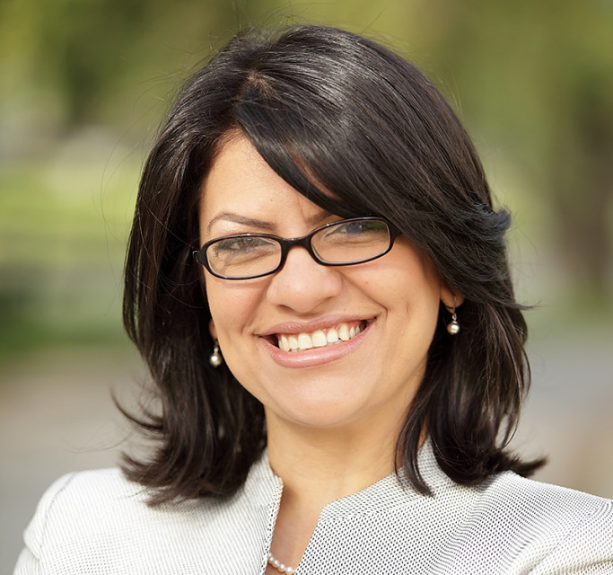 Rashida Tlaib is former Michigan State Representative (D-6th MI); currently campaign manager for TAKE ON HATE. Tlaib made history in 2008 becoming the first female Muslim woman elected to the Michigan House of Representatives and only second in the country. She is Community Partnerships & Development Director at the Detroit-based Sugar Law Center for Economic & Social Justice. Photo courtesy of Rashida Tlaib