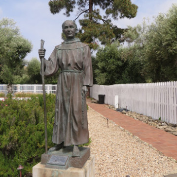 Statue of Junipero Serra, the 18th-century Spanish priest and founder of the California Missions, taken May 17, 2015 in a garden at the Mission San Jose in Fremont, Calif. Religion News Service photo by Adelle M. Banks