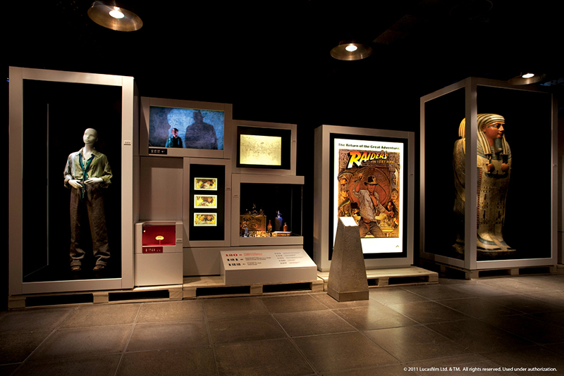 The Indiana Jones exhibit on display at the National Geographic Museum in Washington, D.C. Photo courtesy of the National Geographic Museum