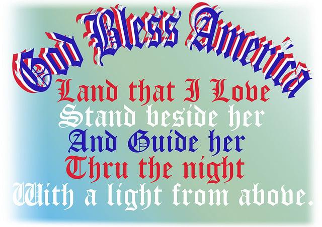 "Lyrics to Irving Berlin's ""God Bless America"" | Image by ClaraDon via Flickr (http://bit.ly/1hCvDN9)"