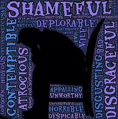 Burdened by shame - courtesy of John Hain via Flickr