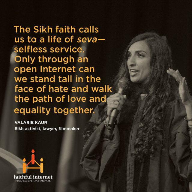 Valarie Kaur, an American Sikh lawyer and filmmaker at the Stanford Center for Internet and Society. Photo courtesy of Valarie Kaur