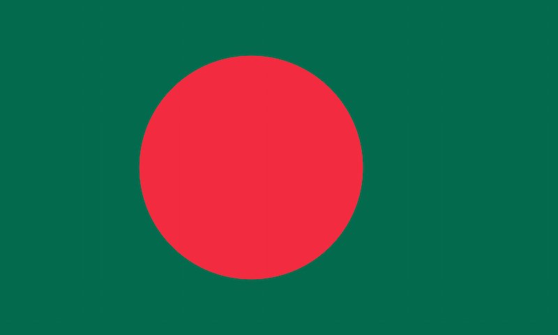 The Bangladesh flag. Photo courtesy Shutterstock