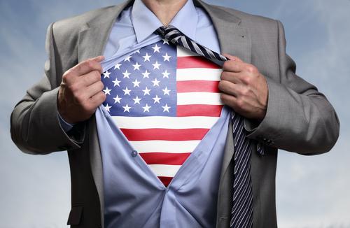 American superhero illustration.