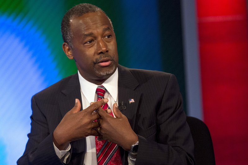 Republican presidential candidate Dr. Ben Carson appears on Fox Business Network's 'Varney & Co.' in New York on August 12, 2015. Photo courtesy of REUTERS/Brendan McDermid *Editors: This photo may only be republished with RNS-GRIFFIN-COLUMN, originally transmitted on September 23, 2015.