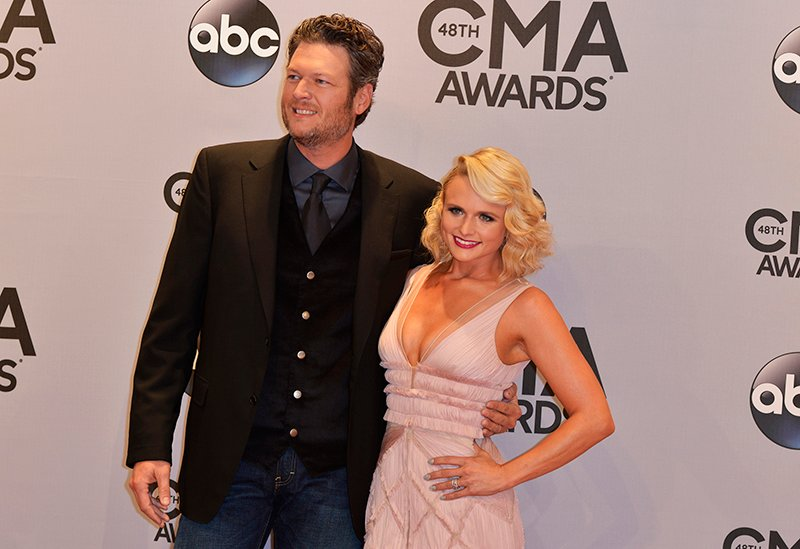 Musicians Blake Shelton and Miranda Lambert arrive at the 48th Country Music Association Awards in Nashville, Tennessee on November 5, 2014. Photo courtesy of REUTERS/Eric Henderson *Editors: This photo may only be republished with RNS-DIVORCE-SIN, originally transmitted on August 12, 2015.