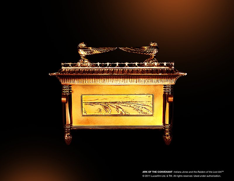 The Ark of the Covenant from 'Indiana Jones and the Raiders of the Lost Ark' is on display at the National Geographic Museum in Washinton, D.C. Photo courtesy of the National Geographic Museum