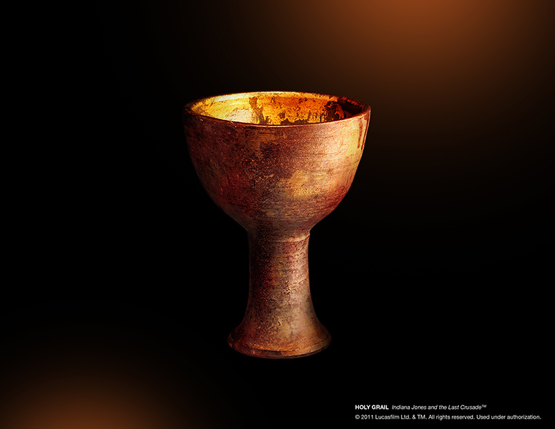The Holy Grail from 'Indiana Jones and the Last Crusade' is on exhibit at the National Geographic Museum in Washington, D.C. Photo courtesy of the National Geographic Museum