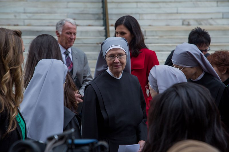 Mother Loraine, at the press conference after oral arguments at the 10th Circuit Court of Appeals. Photo courtesy of The Becket Fund for Religious Liberty