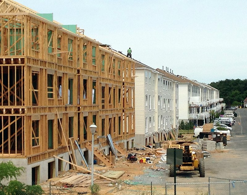 Construction continues on new units on the east side of the West Gate development in Lakewood on August 6, 2015. Photo courtesy of USA Today