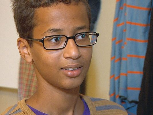 Ahmed Mohamed, 14, was detained after police said a suspicious device was found inside his pencil box at MacArthur High School. Photo courtesy of USA Today