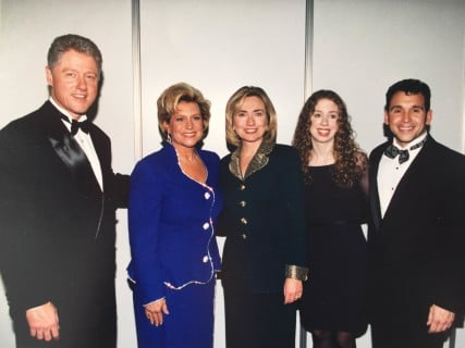 Sandi Patty with President Bill Clinton and family. - Photo courtesy of Sandi Patty