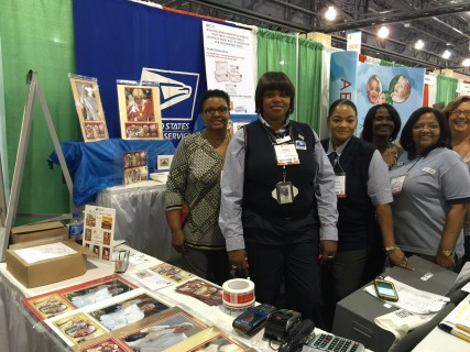 Sharon Ross, center, and other USPS employees at the World Meeting of Families