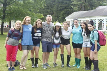 Camp Director Bordman, Hannah, and friends at Camp. Courtesy of Camp Eisner