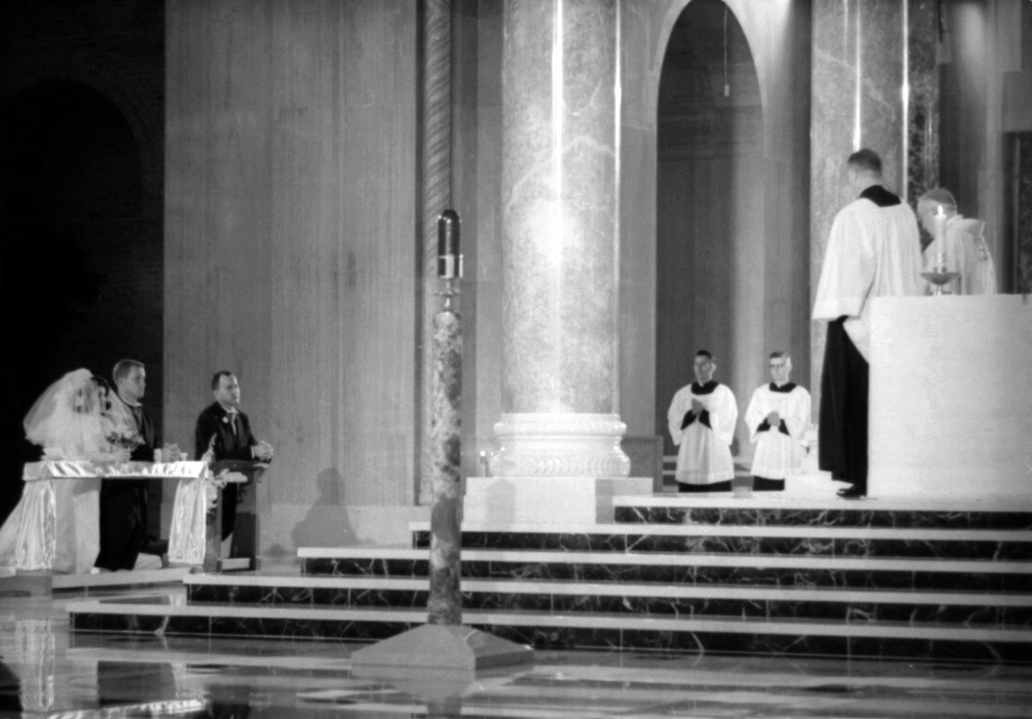 Nugent–Johnson wedding at the National Shrine of the Immaculate Conception, Washington, D.C., in August, 1966.