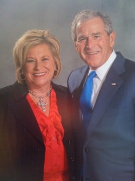 Sandi Patty with President George W. Bush - Courtesy of Sandi Patty