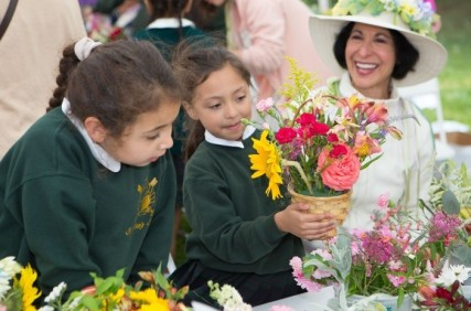 Flower arranging is a favorite activity at the Faires.
