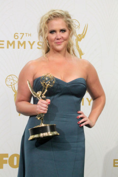 Amy Schumer at the Primetime Emmy Awards Press Room at the Microsoft Theater on September 20, 2015 in Los Angeles, CA