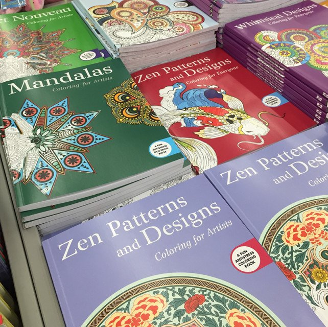 A stack of adult coloring books inside an A.C. Moore craft store. Religion News Service photo by Leslie Miller