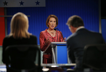 Republican presidential candidate and former Hewlett-Packard CEO Carly Fiorina responds to a question at a Fox-sponsored forum for lower polling candidates held before the first official Republican presidential candidates debate of the 2016 U.S. presidential campaign in Cleveland, Ohio, on August 6, 2015. Photo courtesy of REUTERS/Brian Snyder