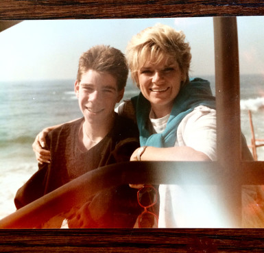 David Gregory with his mother. Photo courtesy of David Gregory