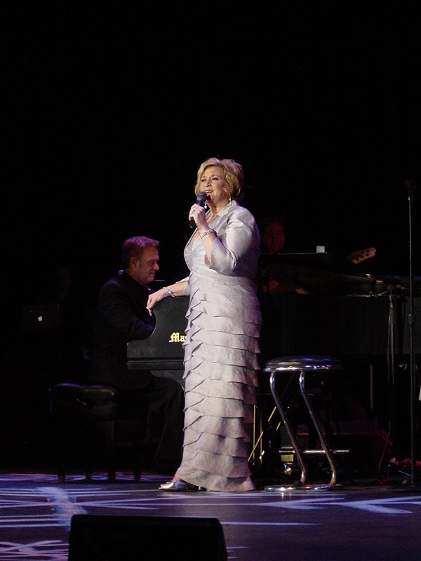 Sandi Patty performing during a Special Olympics event. Photo courtesy of Mike Atkins Entertainment