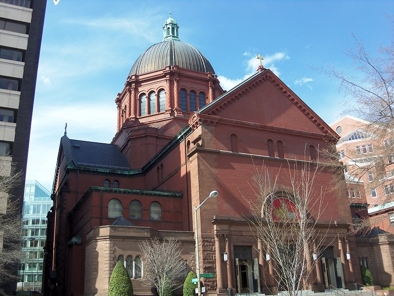Cathedral of St. Matthew the Apostle, Washington, D.C. Photo courtesy of Farragutful via Wikimedia Commons