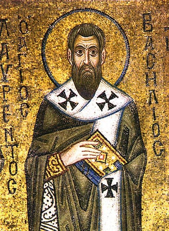 Icon of St. Basil the Great from the St. Sophia Cathedral of Kiev